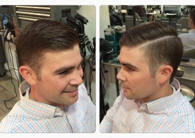 Retro mans haircut
